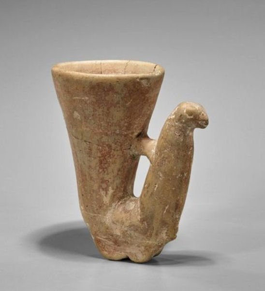 Ancient Near Eastern, Amlash, Pottery Rhyton c.900-800