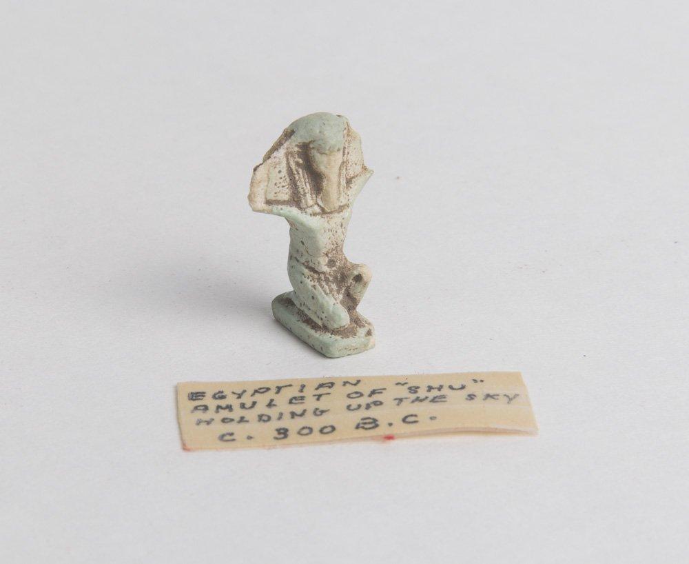 Ancient Egyptian Faience Amulet of god Shu Ca. 525 B.C