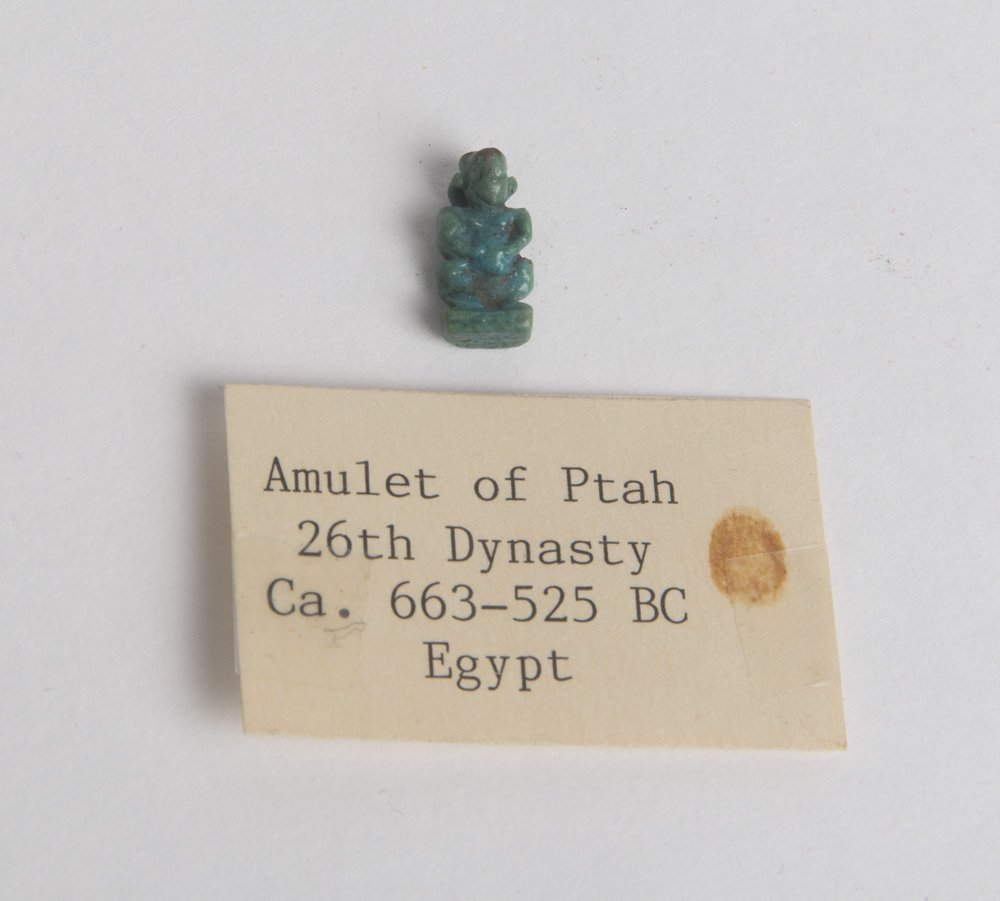 Ancient Egyptian Faience Amulet of god Ptah Ca. 525 BC