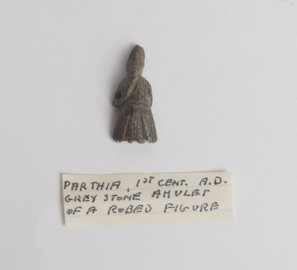 Ancient Parthian Stone Figure amulet of a bearded man