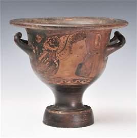 Ancient Apulian Bell Krater Magna Graecia Ca. 350 BC