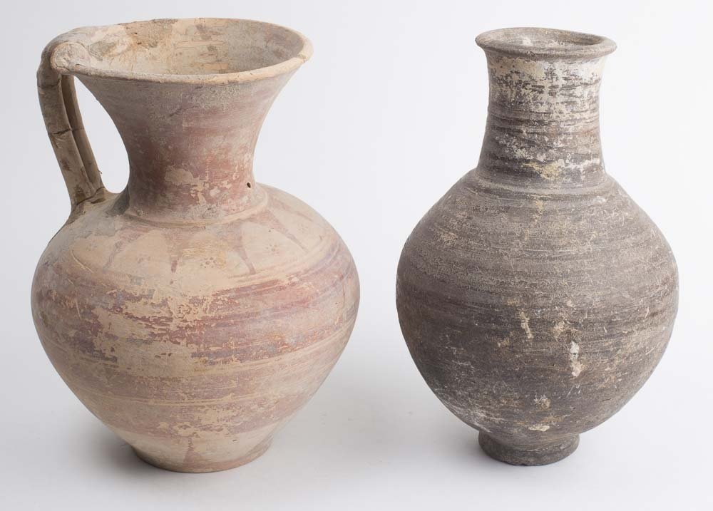 Lot of 2 Ancient Greek Pottery Vessels c.300 BC