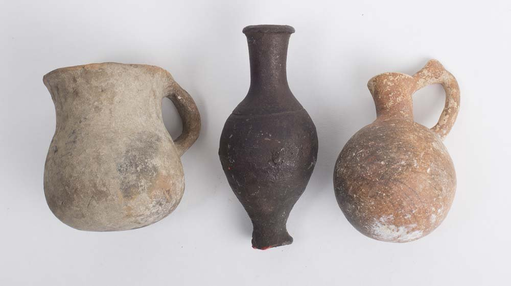 Lot of 3 Ancient Holy Land Pottery Vessels c.2500 BC