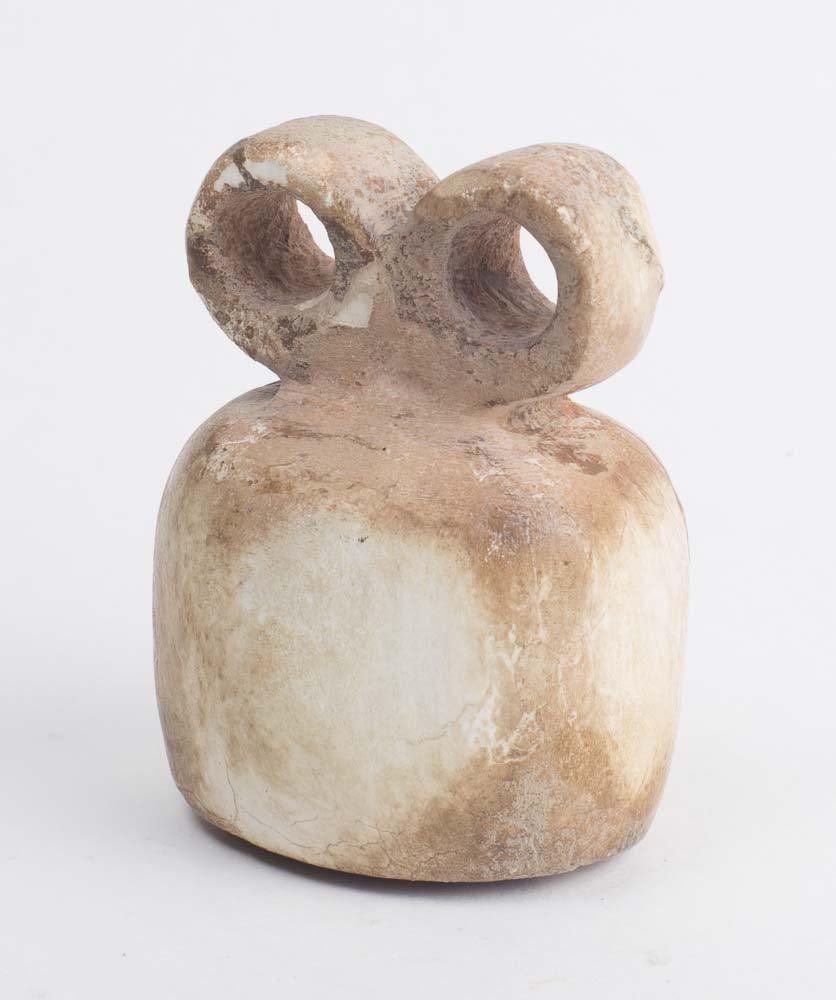 Ancient tell brak WHITE STONE eye idol c.4TH MILLENNIUM