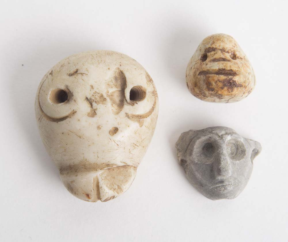 Lot of 3 Ancient Near Eastern stone Amulets c.3rd MILLE