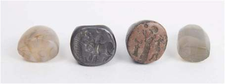 Lot of 4 Ancient Near Eastern Stamp Seals c.1st MILLENN