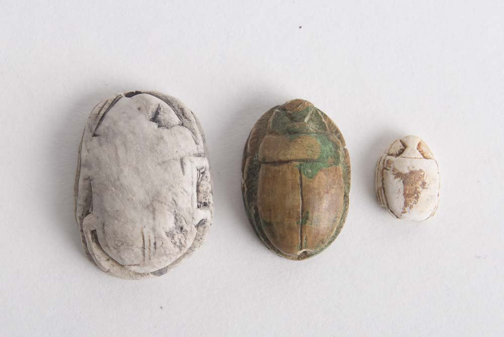 Lot of 3 Ancient Egyptian Steatite Stone Scarabs C.1500