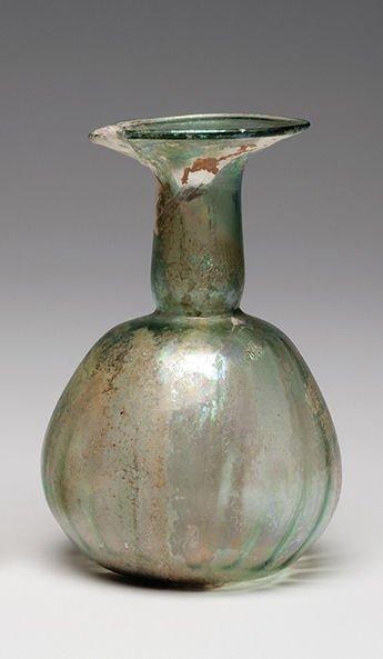 Ancient Roman Glass Bottle Ca. 1st - 3rd century A.D. - 3
