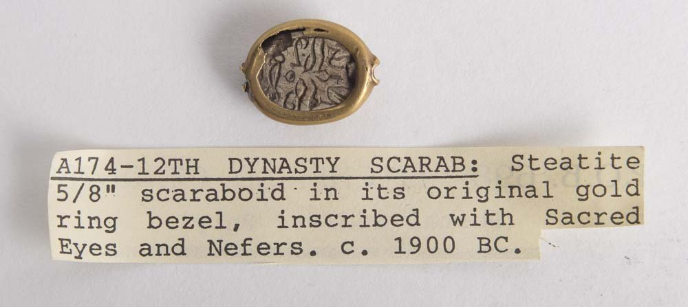 Ancient Egyptian Steatite Stone Scarab Ca. 1500 B.C - 2