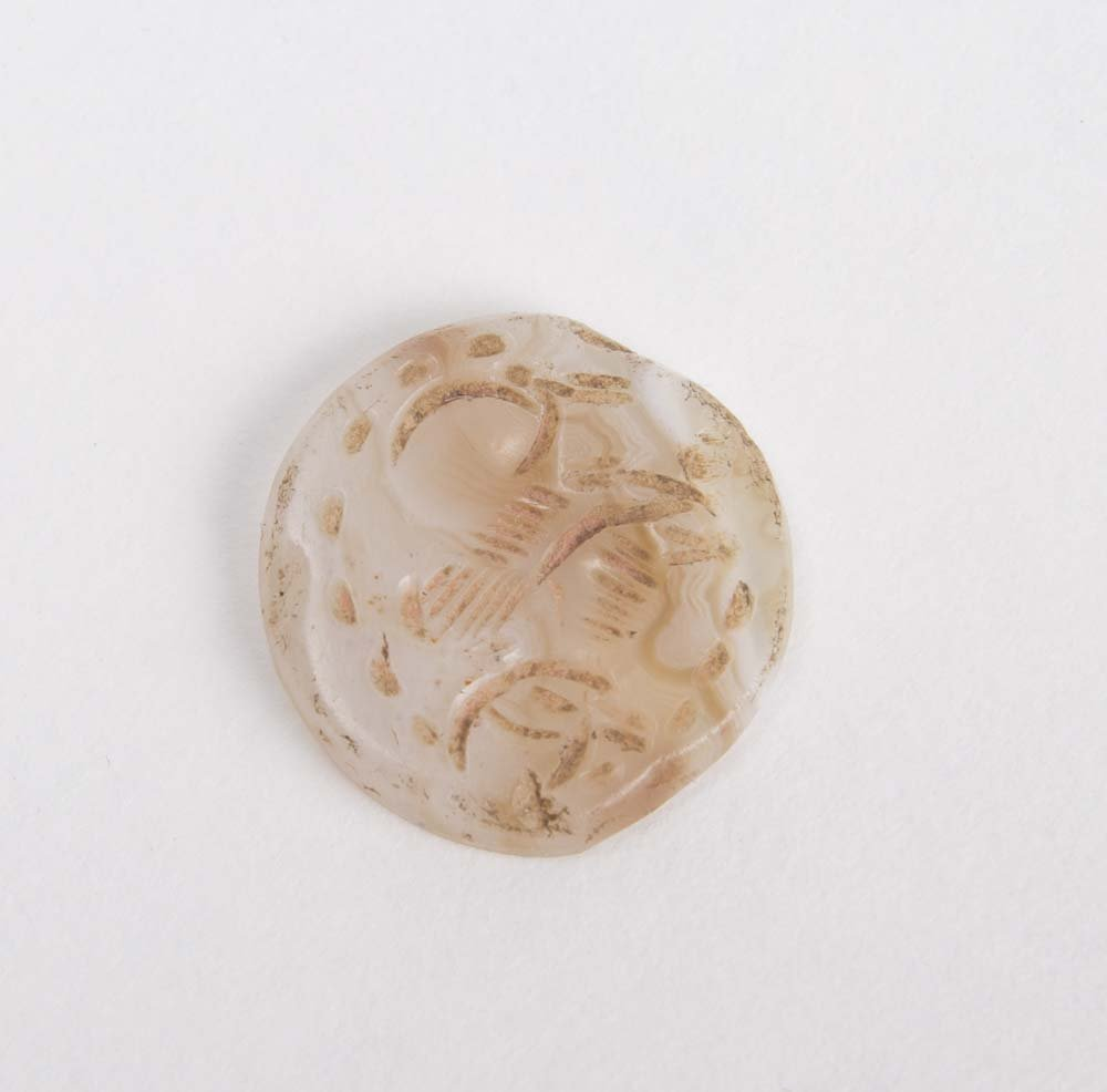 Ancient Sasanian Agate Stone Stamp Seal c.600 AD