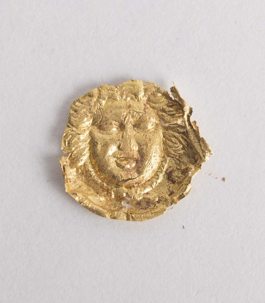 Ancient Etruscan Gold Foil Applique with Medusa c.4th c - 2