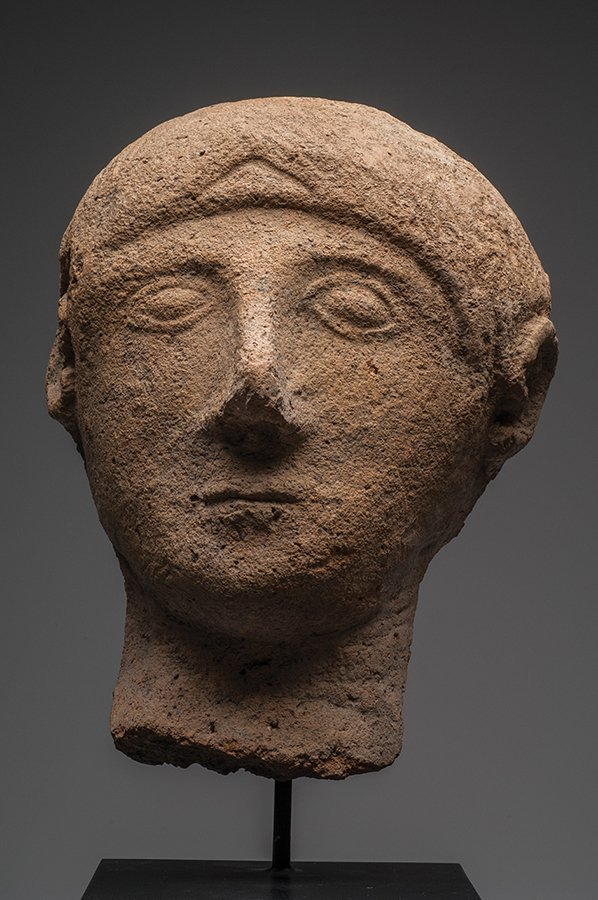 Etruscan Pottery Votive Head of a Man Ca. 6th cent BC - 2