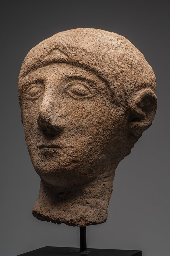 Etruscan Pottery Votive Head of a Man Ca. 6th cent BC - 3