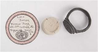 Ancient Roman Bronze Ring c4th century AD