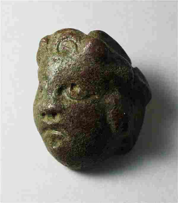 Ancient Roman Bronze Applique with Medusa c.2nd cent AD