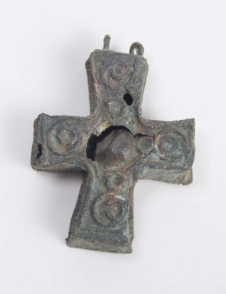 Ancient Byzantine Bronze Cross c.6th cen AD