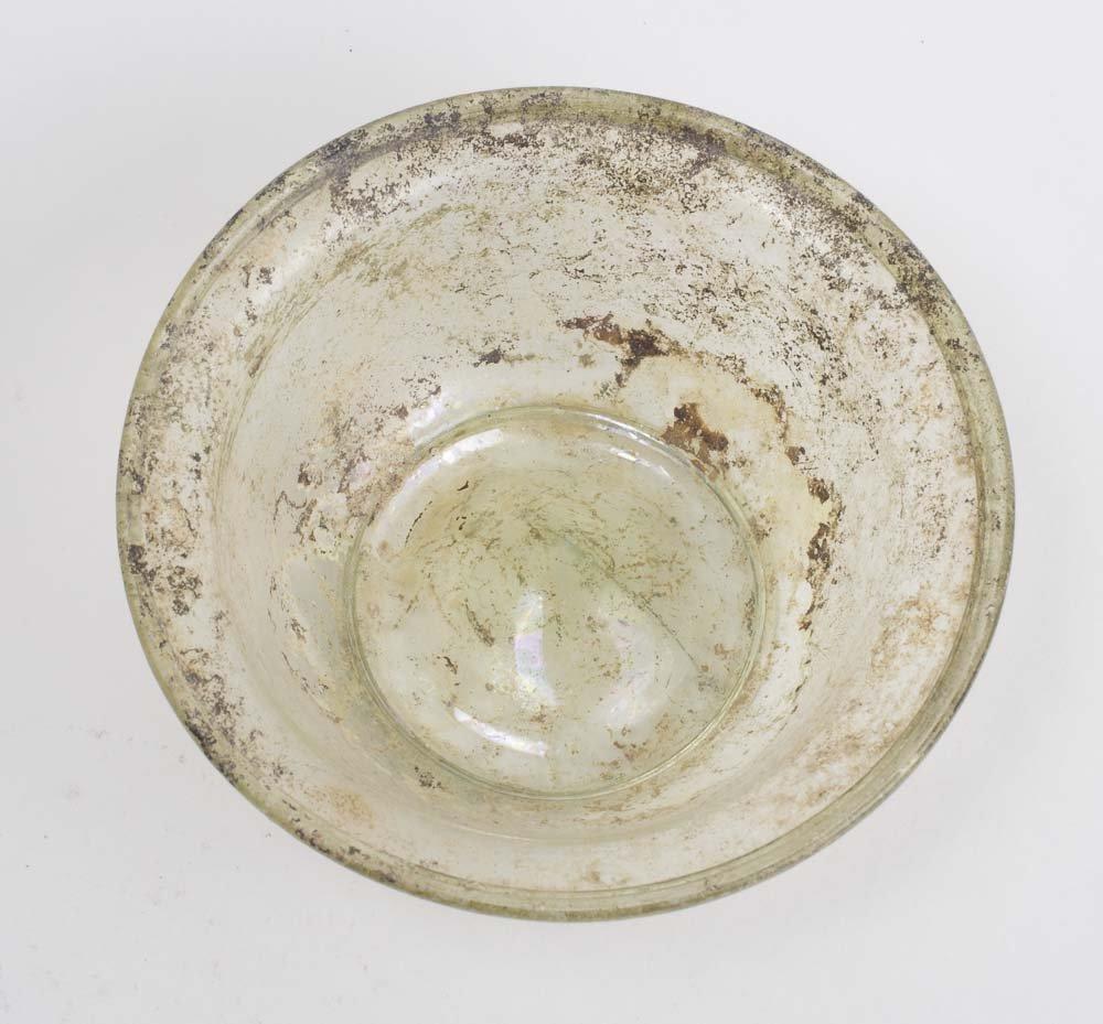 Ancient Roman Glass Bowl, 100-300 Century CE,