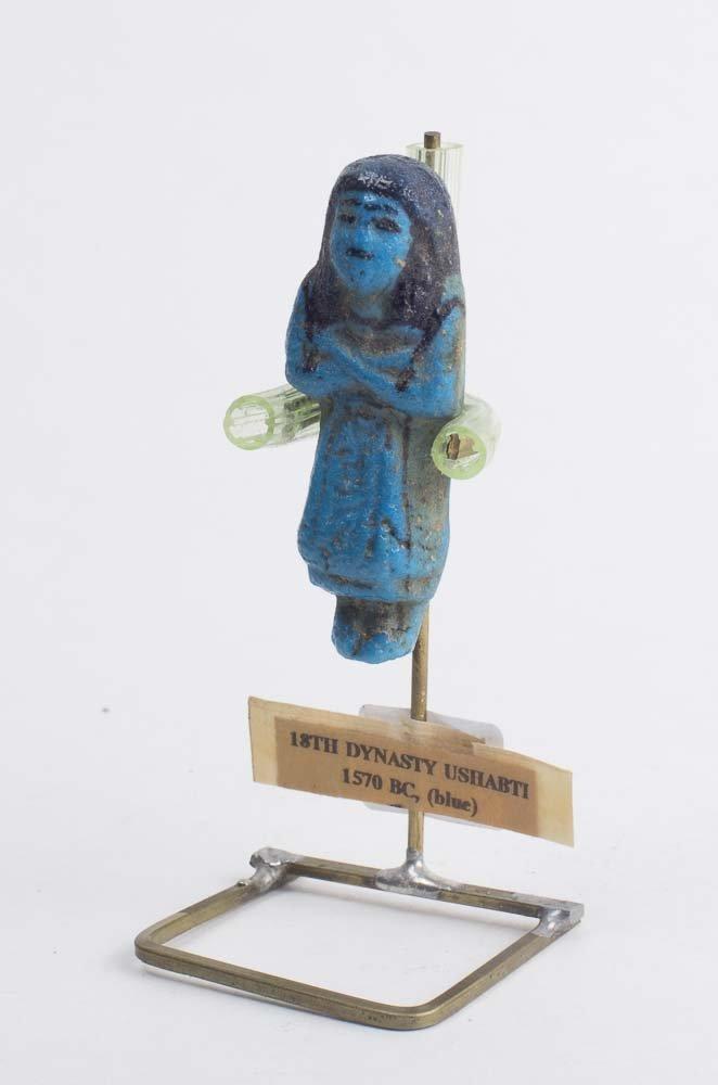 Ancient Egyptian Faience Overseer USHABTI c.18th Dynast