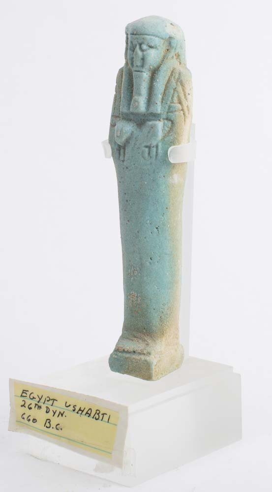 Ancient Egyptian Blue Faience Ushabti c.600 BC