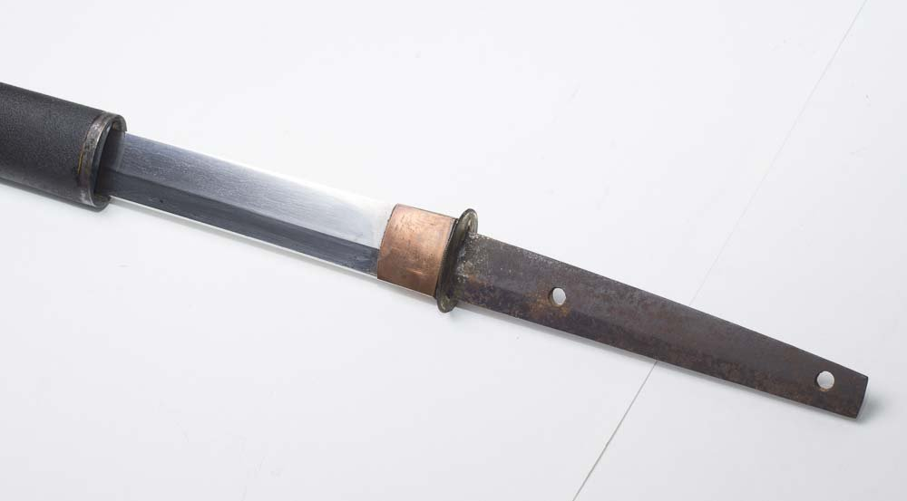 A JAPANESE ANTIQUE SAMURAI  SHARP STEEL BLADE SWORD - 4