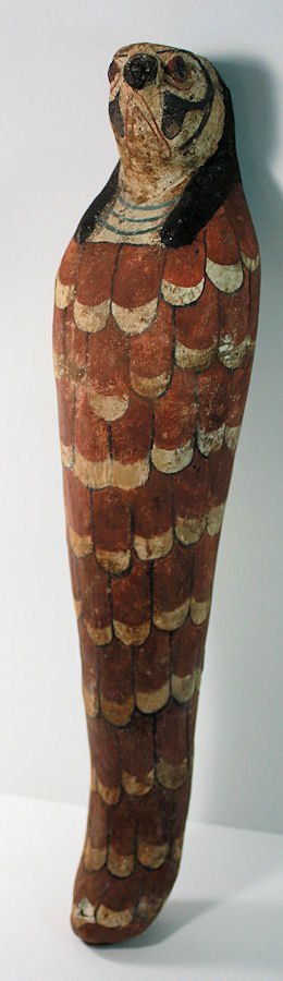 Ancient Egyptian Mummified Falcon in wood Ptolemaic - 3
