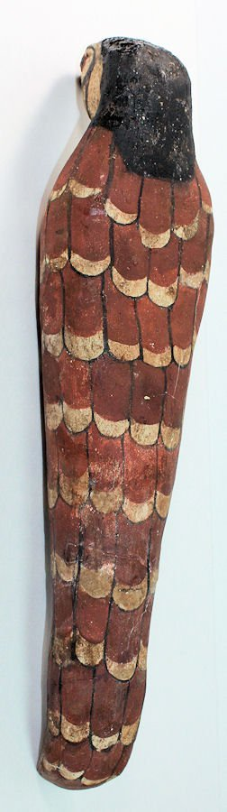 Ancient Egyptian Mummified Falcon in wood Ptolemaic - 4