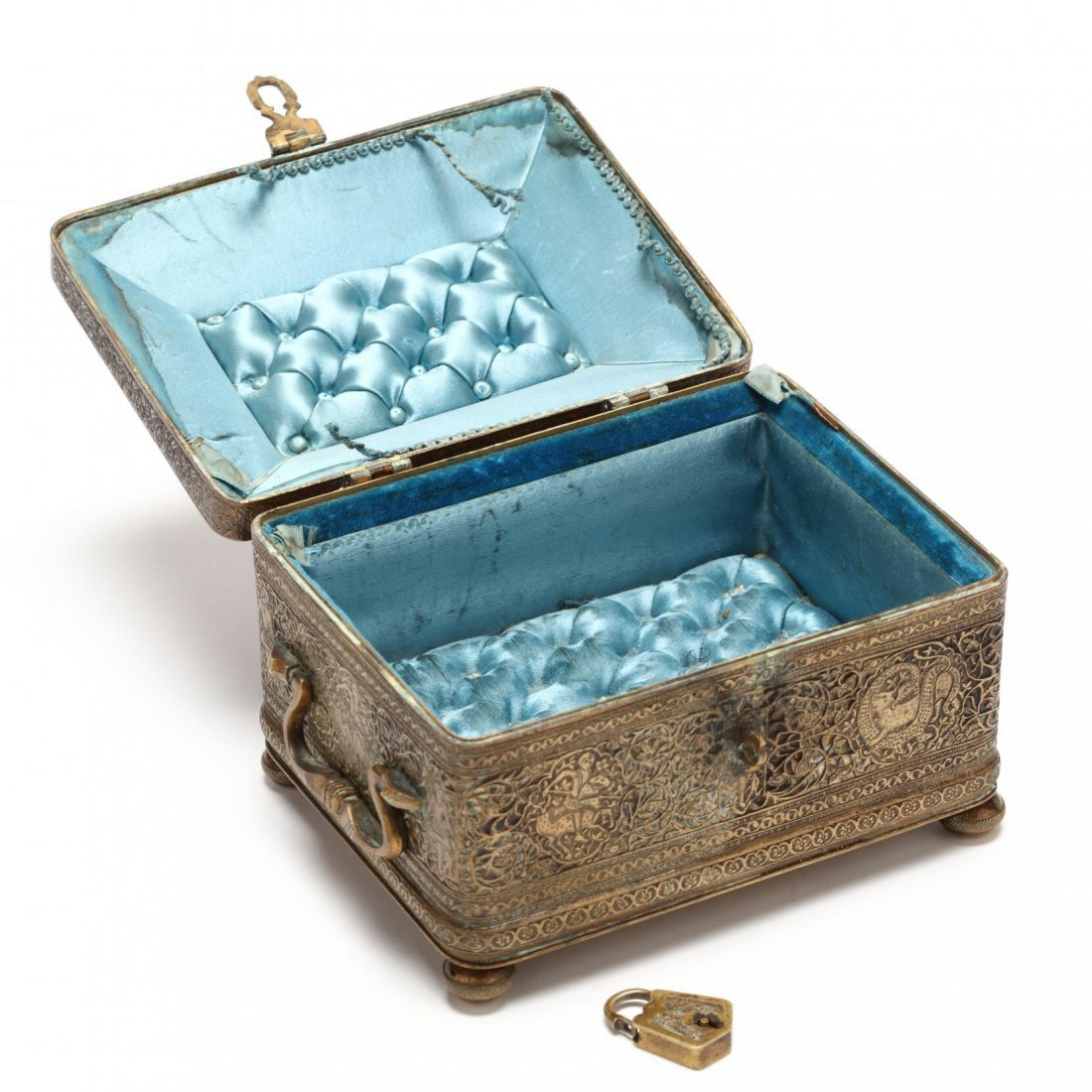 Persian Qajar Copper Jewelry Box c.19th cent AD. - 3