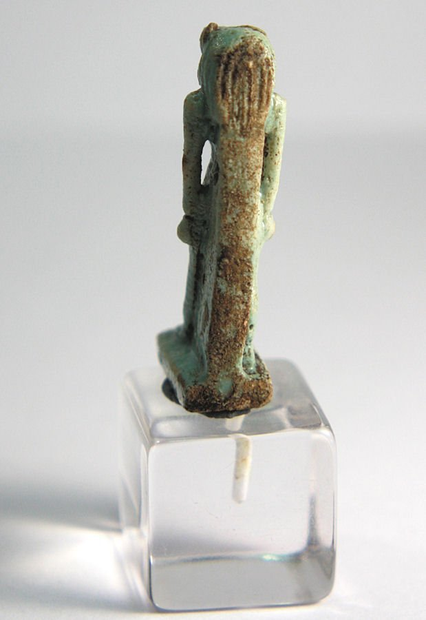 Ancient Egyptian Blue Faience Sekhmet Amulet c.664 BC - 4