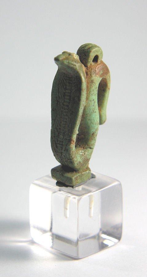 Ancient Egyptian Faience cobra (uraeus) Amulet c.664 BC - 2