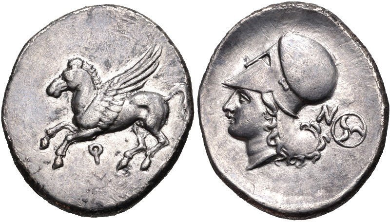 CORINTHIA, Corinth. Circa 375-300 BC. AR Stater Pegasos - 2