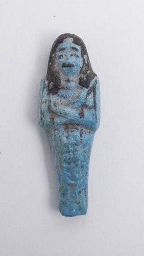 Ancient Egyptian Blue Faience USHABTI c.18th Dynasty