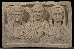 Large Ancient Roman Limestone Stele Ca. 2nd - 4rd centu