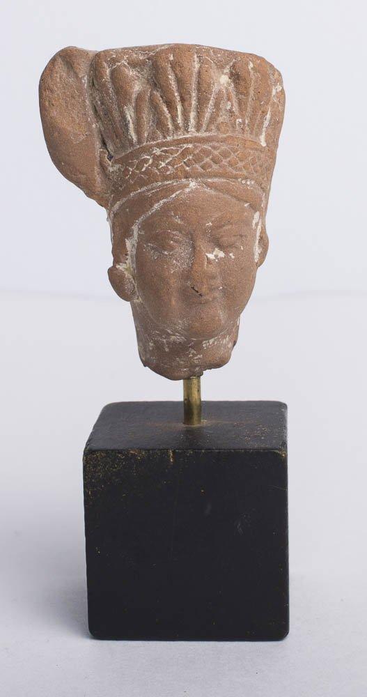 Ancient Roman Egypt Terracotta Head c.1st-2nd Cet AD