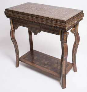 Antique Middle Eastern SYRIAN Wood Game Table