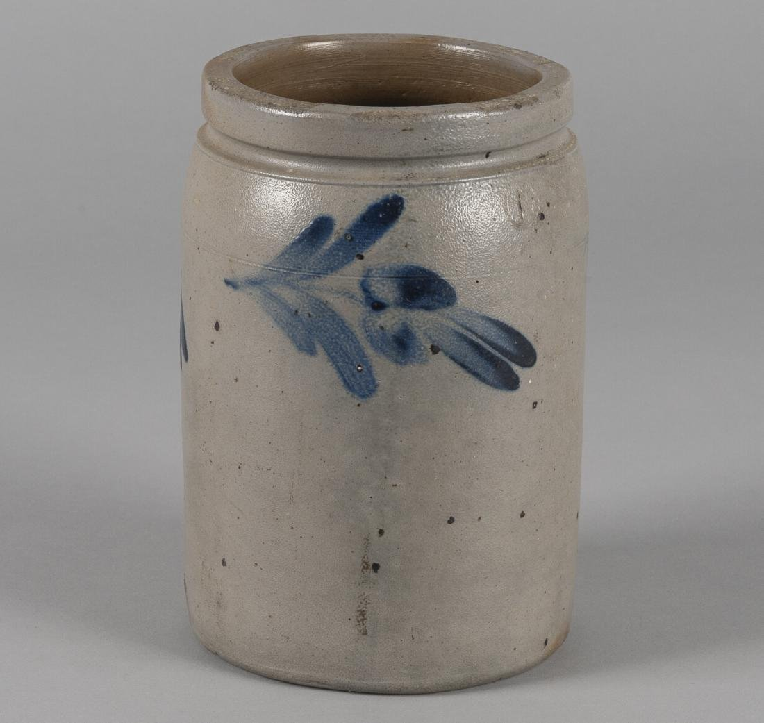 Pennsylvania stoneware crock, 19th c., with cobal