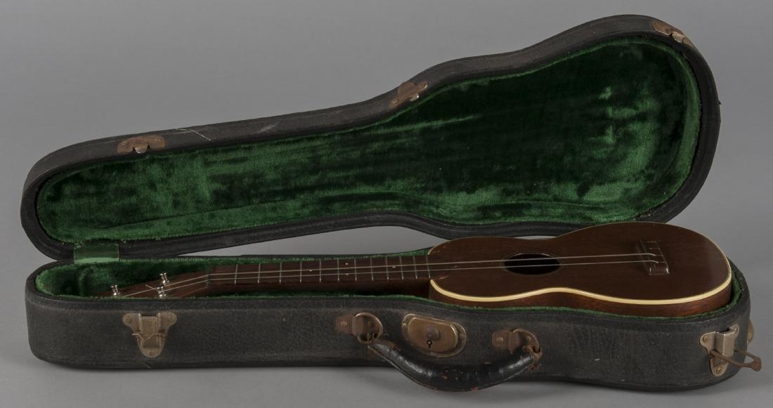 C. F. Martin ukulele with case.