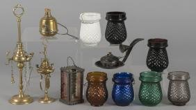 Lighting, to include votive holders, fluid lamps,