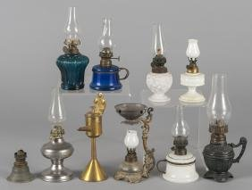 Ten assorted fairly and fluid lamps.