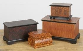 Four contemporary painted pine dresser boxes, tal