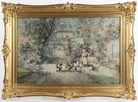 Robert Shaw (Delaware 1859-1912), watercolor land