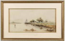 Frank F. English (American 1854-1922), watercolor
