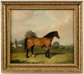 Robert Havell, 19th c., oil on canvas horse portr