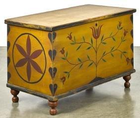 Pennsylvania painted poplar dower chest, 19th c.,