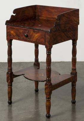 Painted Sheraton washstand, 19th c., retaining a