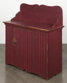 Painted washstand, ca. 1900, 38'' h., 35 3/4'' w.