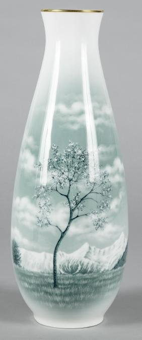 Rosenthal porcelain vase with landscape decoratio