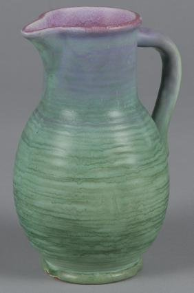 Weller Ware art pottery pitcher, 9 1/2'' h.