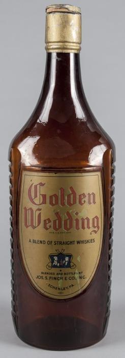 Large display bottle for Golden Wedding whiskey,