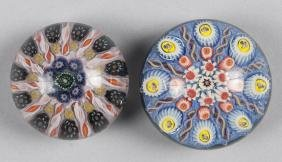 Two Strathern spoked millefiori paperweights, 3 1