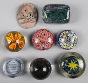 Group of ten assorted paperweights, to include Ch